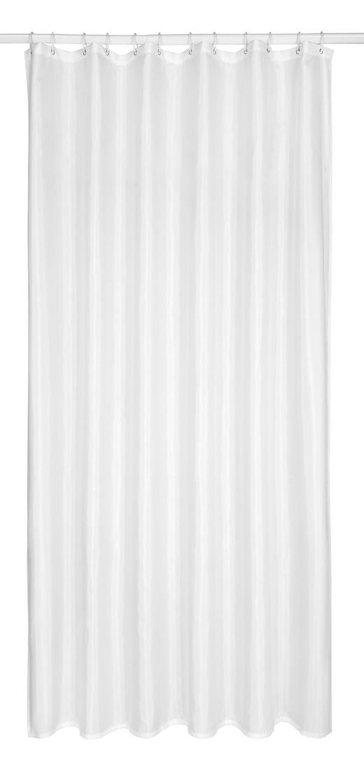 DUSCHVORHANG - Weiß, Basics, Kunststoff (120/200cm)