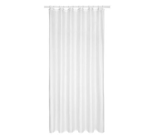 DUSCHVORHANG - Weiß, Basics, Kunststoff (180/200cm)