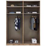 Kleiderschrank Offen 182,2cm Unit, Eiche Dekor - Eichefarben, MODERN, Holzwerkstoff (182,2/242,2/56,5cm) - Ombra