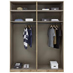Kleiderschrank Offen 182,2cm Unit, Weiß/Dekor - Weiß, MODERN, Holzwerkstoff (182,2/242,2/56,5cm) - Ombra