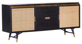 SIDEBOARD 180/81/47 cm  - Messingfarben/Schwarz, Trend, Holz/Holzwerkstoff (180/81/47cm) - Carryhome