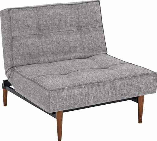 SESSEL Grau - Ulmefarben/Dunkelbraun, Design, Holz/Textil (90/79/115cm) - Innovation