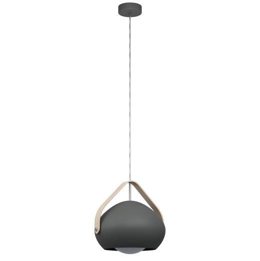HÄNGELEUCHTE - Braun/Grau, Design, Glas/Holz (33/110cm) - Dieter Knoll