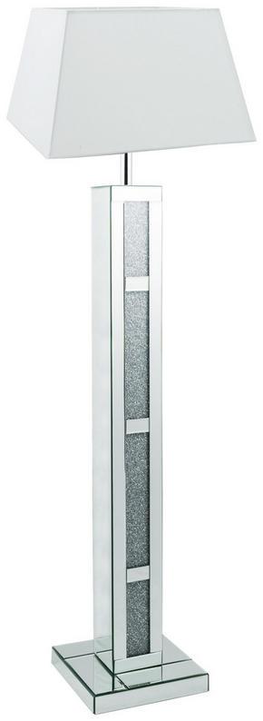 GOLVLAMPA - vit/silver, Basics, metall/glas (36/141/30cm) - Ambia Home