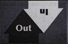 FUßMATTE 50/75 cm Graphik Grau, Schwarz  - Schwarz/Grau, Basics, Kunststoff/Textil (50/75cm) - Esposa