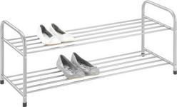 SCHUHREGAL 82/33/38 cm  - Alufarben, Design, Metall (82/33/38cm) - Carryhome