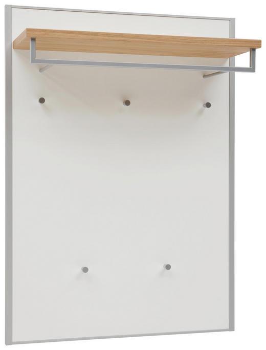 GARDEROBENPANEEL Eiche furniert lackiert Eichefarben, Weiß - Eichefarben/Weiß, MODERN, Holz/Metall (80/109/27cm) - Dieter Knoll