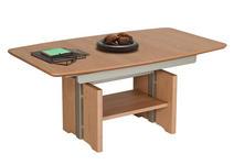 COUCHTISCH in Holz 120-(160)/70/54-(73) cm - Eichefarben, Design, Holz (120-(160)/70/54-(73)cm) - Venda