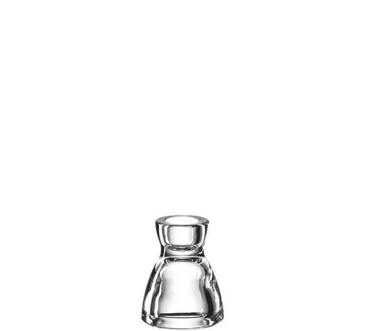 KERZENHALTER - Klar, Basics, Glas (8cm) - Leonardo