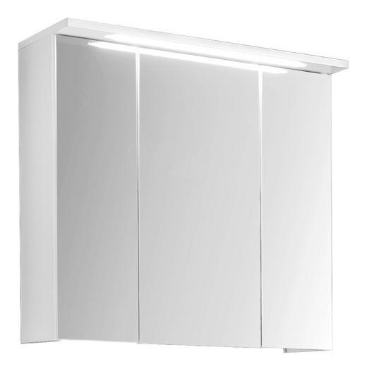SPIEGELSCHRANK Weiß - Weiß, Design, Glas/Holzwerkstoff (60/63/28cm) - Xora