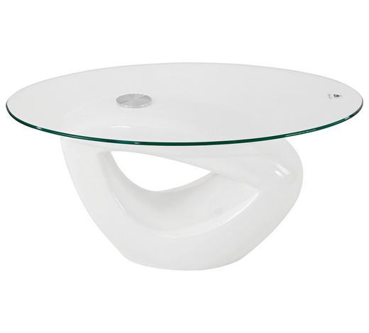 KLUB STOLIĆ - bijela, Design, staklo/plastika (115/43/65cm) - Xora