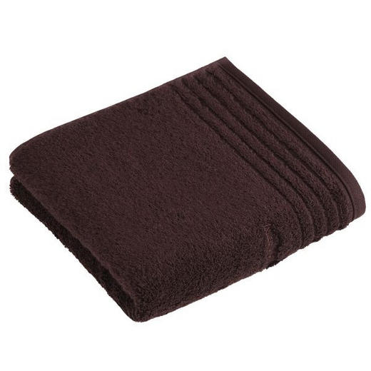 HANDTUCH 50/100 cm - Dunkelbraun, Basics, Textil (50/100cm) - VOSSEN