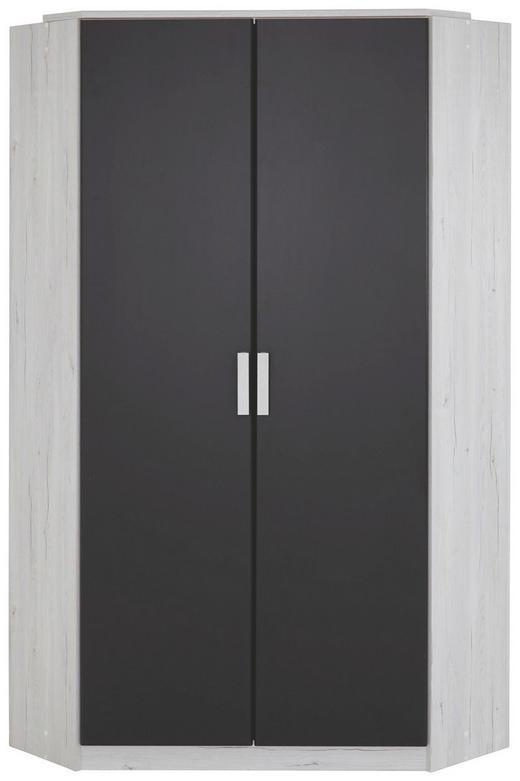 ECKSCHRANK in Graphitfarben, Weiß - Graphitfarben/Weiß, Design, Holzwerkstoff/Kunststoff (95/95cm) - Carryhome
