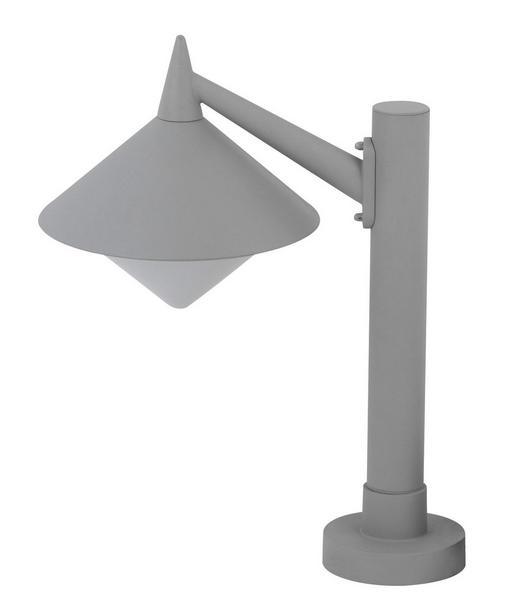 AUßENLEUCHTE - Grau, Basics, Metall (26/58cm)