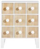 SCHRANK Weiß - Ahornfarben/Weiß, Basics, Holz (38/48cm)