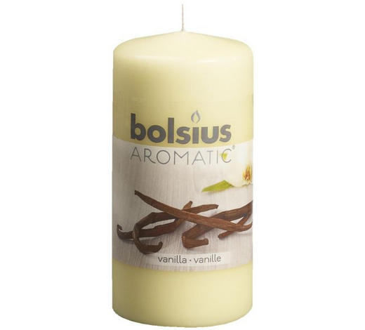 DUFTKERZE Vanille - Creme, Basics (12/6cm) - Bolsius