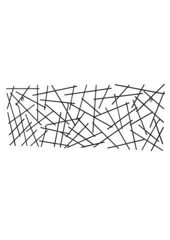 STENSKI OBEŠALNIK - antracit, Trend, kovina (100/40/5cm) - Boxxx