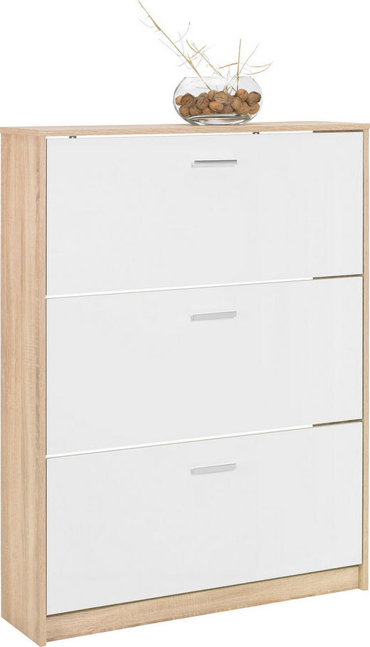 SCHUHKIPPER 93/124/25 cm - Chromfarben/Eichefarben, Design, Holzwerkstoff/Kunststoff (93/124/25cm)