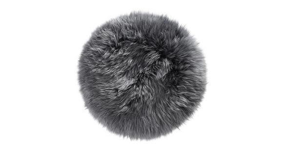 SITZKISSEN   34 cm  - Anthrazit, KONVENTIONELL, Textil/Fell (34cm) - Esposa