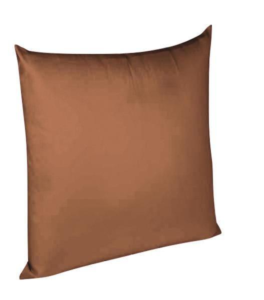 KISSENHÜLLE Dunkelbraun 80/80 cm - Dunkelbraun, Basics, Textil (80/80cm) - FLEURESSE
