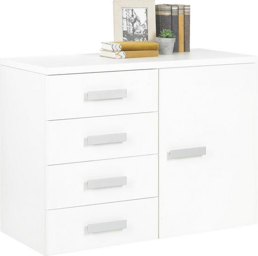 ANRICHTE melaminharzbeschichtet - Alufarben/Weiß, Design, Holzwerkstoff/Kunststoff (100/72,8/44cm) - Xora