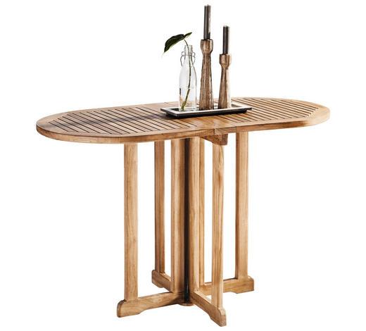 GARTENKLAPPTISCH Holz Naturfarben  - Naturfarben, ROMANTIK / LANDHAUS, Holz (120/60/75cm) - Xora