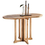 VRTNI SKLOPIVI STOL - natur boje, Design, drvo (120/75/60cm) - AMBIA GARDEN