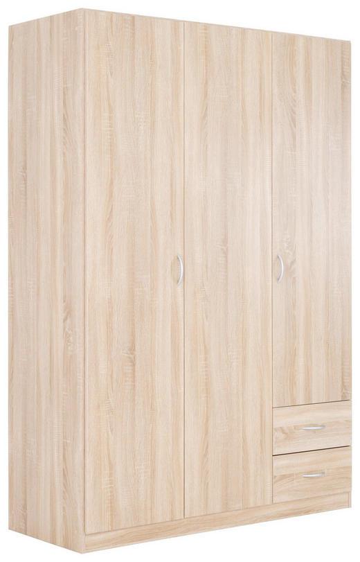 SKŘÍŇ, Sonoma dub - barvy stříbra/Sonoma dub, Konvenční, kompozitní dřevo (135/197/54cm) - Boxxx