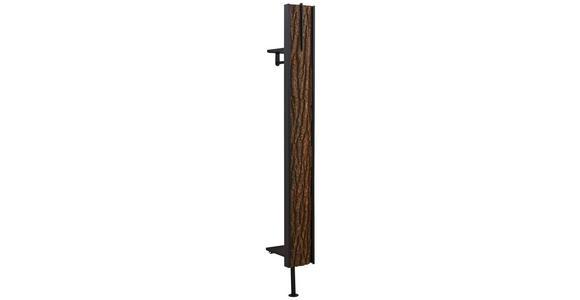 WANDGARDEROBE - Eichefarben/Anthrazit, Natur, Holz/Metall (20/191/28cm) - Valnatura