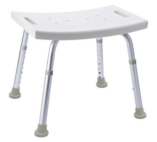 DUSCHHOCKER Metall, Kunststoff - Weiß/Grau, Basics, Kunststoff/Metall (49/34-52/29,5cm)