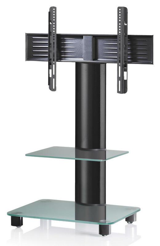 TV-RACK Schwarz, Transparent - Transparent/Schwarz, KONVENTIONELL, Glas/Metall (60/100/44cm)
