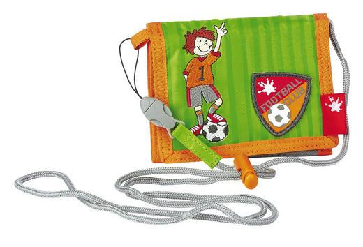 Kinderbrustbeutel - Hellgrün/Orange, Textil (13/10/2cm) - Sigikid