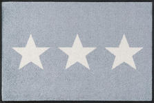 FUßMATTE 50/75 cm Stern Grau, Weiß  - Weiß/Grau, Basics, Kunststoff/Textil (50/75cm) - Esposa
