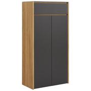 BOTNÍK - barvy dubu/antracitová, Design, kompozitní dřevo/sklo (68/132,3/34cm) - Voleo