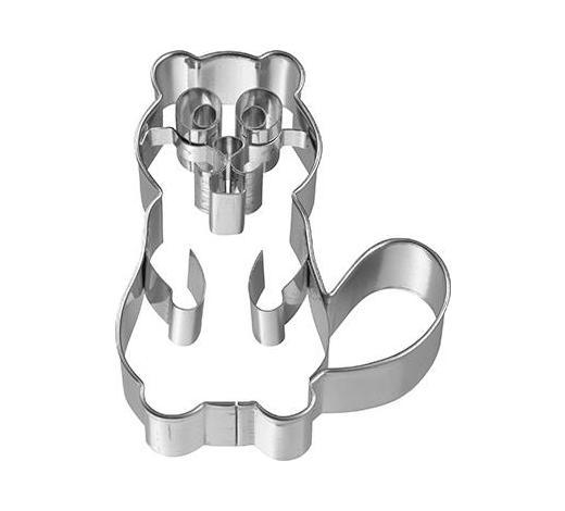 KEKSAUSSTECHFORM - Edelstahlfarben, Basics, Metall (5,7/7/2,5cm) - Birkmann