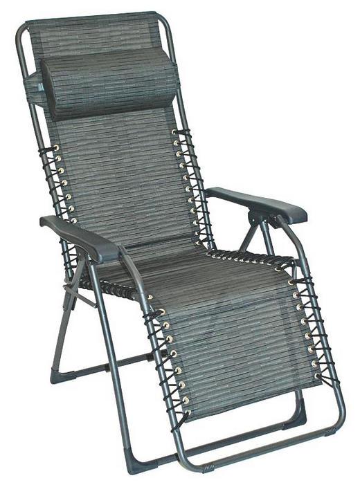 GARTEN-RELAXSESSEL Stahl - Dunkelgrau/Anthrazit, Basics, Kunststoff/Textil (60/120/64cm)
