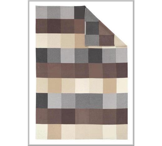 DEKA - šedá/hnědá, Natur, textilie (140/200cm) - Linea Natura