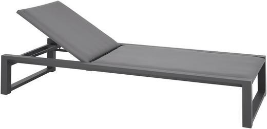 SONNENLIEGE Aluminium pulverbeschichtet Anthrazit, Taupe - Taupe/Anthrazit, Design, Textil/Metall (78/31/200cm) - Amatio