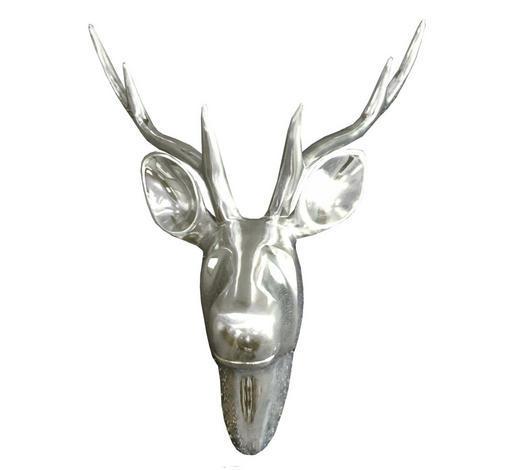 DEKOHIRSCH  Silberfarben   - Silberfarben, Basics, Metall (49/39cm)