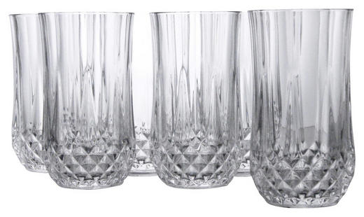 LONGDRINKGLAS, 6ER SET - Klar, Basics, Glas (//null) - Creatable
