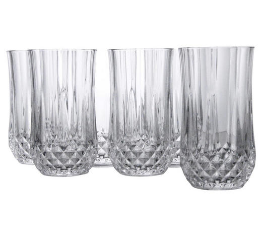 LONGDRINKGLAS, 6ER SET - Klar, Basics, Glas - Creatable
