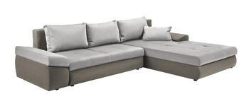 WOHNLANDSCHAFT in Textil Creme, Beige  - Beige/Creme, Design, Kunststoff/Textil (313/215cm) - Carryhome