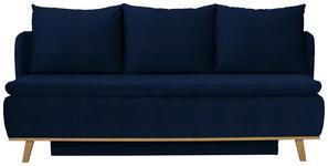 BOXSPRINGSOFA in Textil Blau  - Blau, KONVENTIONELL, Holz/Textil (207/95/121cm) - Venda