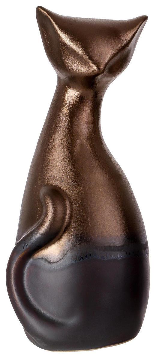 DEKOKATZE - Goldfarben/Braun, LIFESTYLE, Keramik (12 12 26cm) - Ritzenhoff Breker