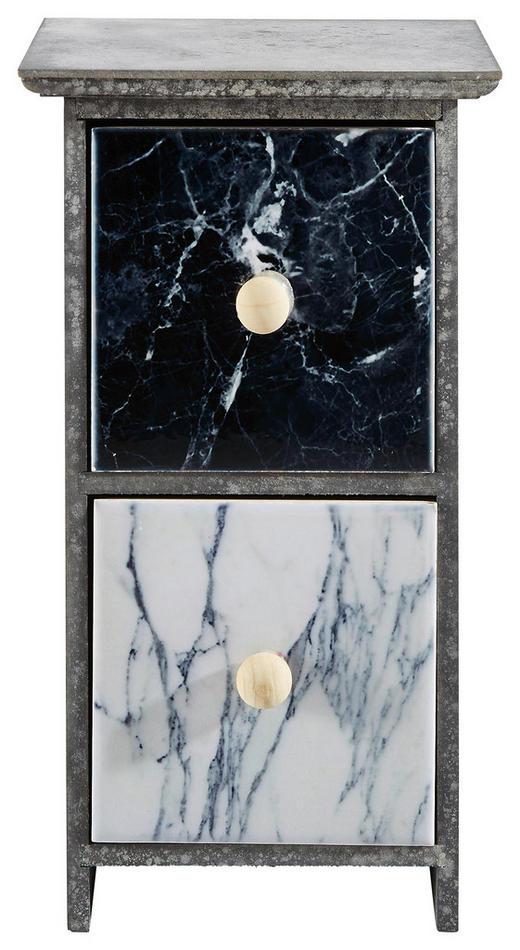 DEKORATIONSASK - vit/grå, Basics, trä/keramik (12,5/23/11cm) - AMBIA HOME