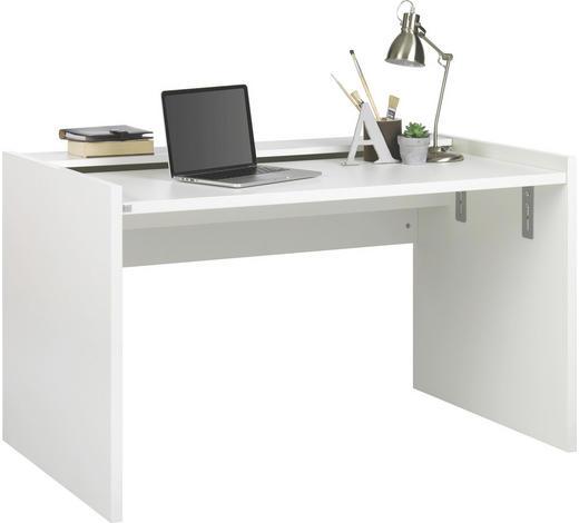 SCHREIBTISCH - Weiß, Design, Holzwerkstoff (126/69,2-75,6/75cm) - Xora