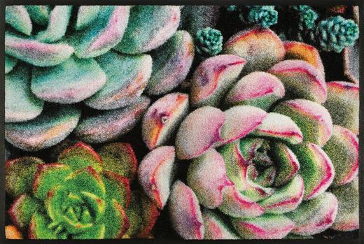 FUßMATTE 50/75 cm Blume Multicolor - Multicolor, Kunststoff/Textil (50/75cm) - Esposa