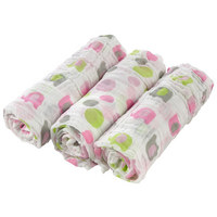 LÁTKOVÉ PLENY - bílá/pink, Basics, textil (80/80cm) - My Baby Lou