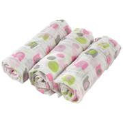 LÁTKOVÉ PLENY - bílá/růžová, Basics, textil (80/80cm) - My Baby Lou