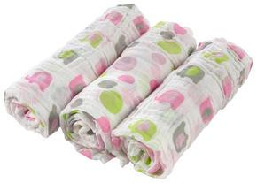 TYGBLÖJOR - vit/pink, Basics, textil (80/80cm) - My Baby Lou